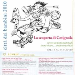 2010 Cotignyork Pieghevole con il programma - volta disegni di Massimiliano Fabbri