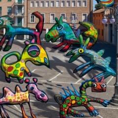 2011 Cotignyork Pieghevole con il programma - bianca Foto della piazza: Daniele Casadio, mostri di Massimiliano Fabbri