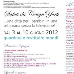 2012 Cotignyork Pieghevole con il programma - volta