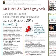 2013 Cotignyork Pieghevole con il programma - volta