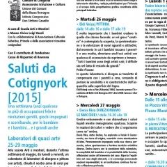 2015 Cotignyork Pieghevole con il programma in bicromia - volta