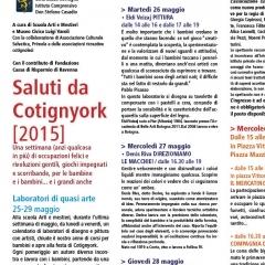 2015 Cotignyork Pieghevole con il programma in quadricromia - volta