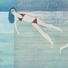 A mollo, 2010, tecnica mista su tavola, cm 30x30, collezione privata, ph: Stefano Tedioli