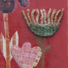 Fiori, 2010, tecnica mista su tavola, cm 40x20, collezione privata, ph: Stefano Tedioli