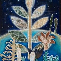 Nuit, 2016, tecnica mista su tela, cm 50x40, collezione privata
