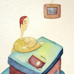 1+2, 2006 tecnica mista su carta, collezione privata