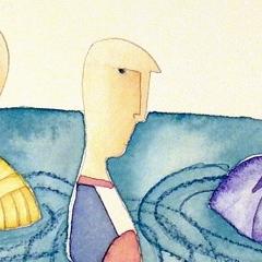 A mollo, 2006 tecnica mista su carta, collezione privata