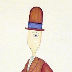 Dandy, 2004 tecnica mista su carta, collezione privata
