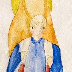 Insieme, 2002 tecnica mista su carta, collezione privata