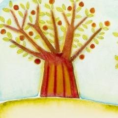 Frutteto, 2006 tecnica mista su carta