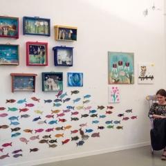 I pesciolini dei bimbi delle scuole di Fusignano, fatti con Alice Lucci