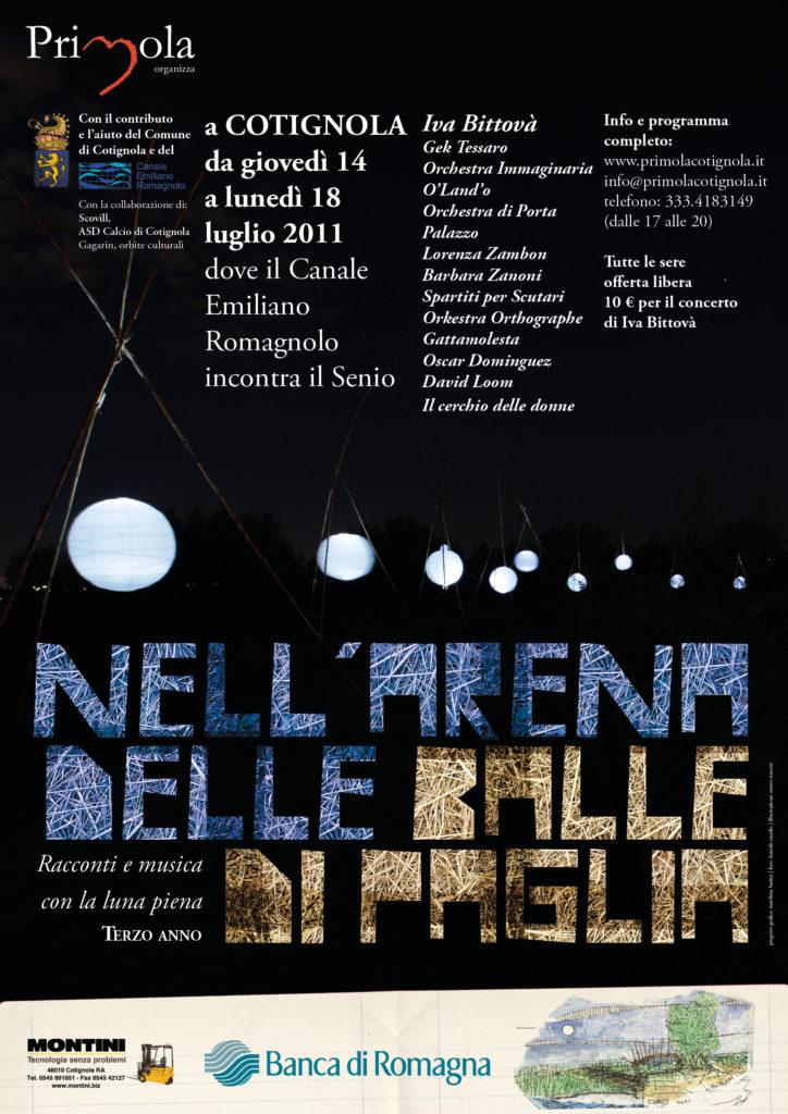 2011 Arena delle balle di paglia manifesto