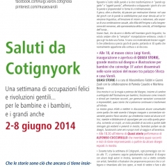 2014 Cotignyork Pieghevole con il programma - volta