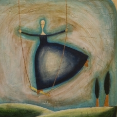 Alto, 2005, tecnica mista su tavola, cm 53x50, collezione privata, ph: Stefano Tedioli