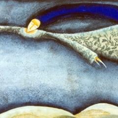 Andrà tutto bene, 1997, tecnica mista su tela, cm 100X50, collezione privata