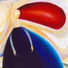 Ascolto solo quello che voglio sentire, 1999, tecnica mista su tela, cm 100X80, collezione privata