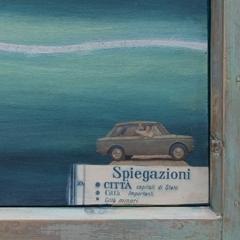 Città minori, 2010, tecnica mista su tavola, cm 43x74, proprietà dell'autrice, ph: Stefano Tedioli