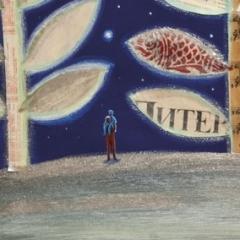 Escursioni notturne, 2016, tecnica mista su tela, cm 60x80, collezione privata