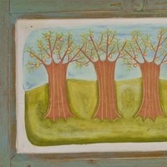 Frutteto, 2008, tecnica mista su tavola, cm 43x74, proprietà dell'autrice, ph: Stefano Tedioli