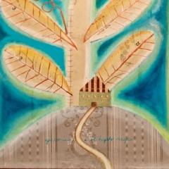 Giacomino e il fagiolo magico, 2016, tecnica mista su tela, cm 100x50, proprietà dell'artista