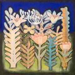 Giardino, 2019, tecnica mista su tela, cm 80x80  proprietà dell'autrice  ph: Stefano Tedioli
