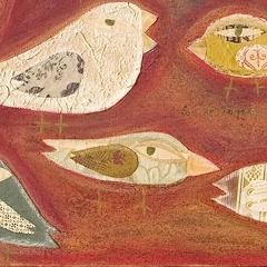 La montagna di semi, 2000, tecnica mista su tela, cm 90X100, proprietà dell'autrice