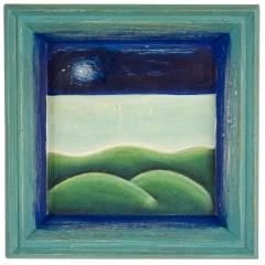 Lode alla buona stella, 2008, tecnica mista su tavola, cm 25,5x25,5, collezione privata, ph: Stefano Tedioli