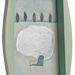 Neve, 2008, tecnica mista su tavola, cm 26x16, collezione privata ph: Stefano Tedioli