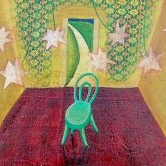 Pane e storie someone else to miss, 2004, tecnica mista su tavola, cm 50X53, collezione privata