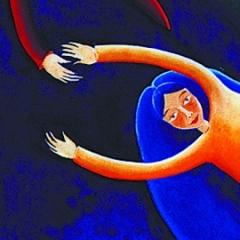 Quadro blu, 1996, acrilico e sabbia su tela, cm 100X100, collezione privata