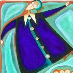 Thank you Marc, 1999, tecnica mista su tela, collezione privata, cm 100X80