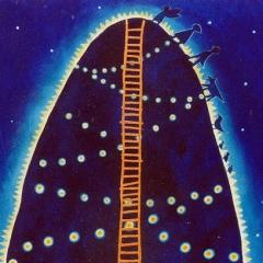 Una montagna, 1996, acrilico e sabbia su tela, collezione privata, cm 80X50
