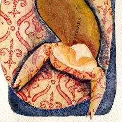 Dall'alto, 2006 tecnica mista su carta, collezione privata