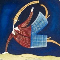Hop, 2006 tecnica mista su carta, collezione privata