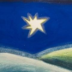 Lucky star, 2006 tecnica mista su carta, collezione privata