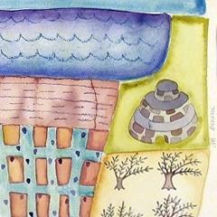 Puglia, 2004 tecnica mista su carta