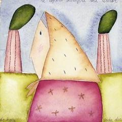 Te espero siempre mi amor, 2004 tecnica mista su carta, collezione privata