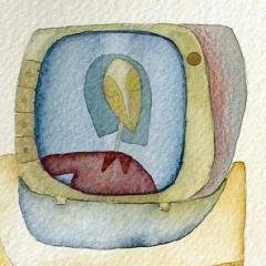Tv, 2004 tecnica mista su carta