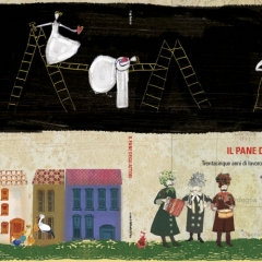 """Cover del libro """"Il pane degli attori"""", di Gigi Bertoni"""