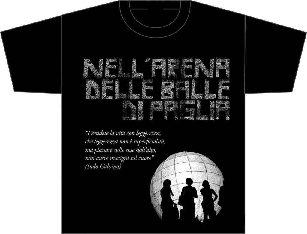 black-t-shirt Arena delle balle di paglia